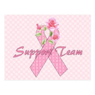 Equipo de ayuda del cáncer de pecho postales