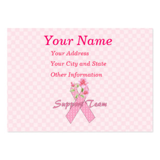 Equipo de ayuda del cáncer de pecho tarjetas de visita grandes