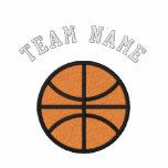 Equipo de baloncesto de encargo sudadera bordada con capucha