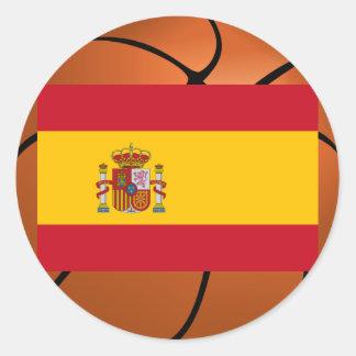 Equipo de baloncesto de España Pegatina Redonda