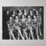 Equipo de baloncesto de la High School secundaria  Impresiones