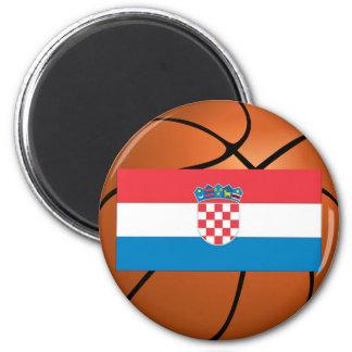 Equipo de baloncesto nacional de Croacia Imán Redondo 5 Cm
