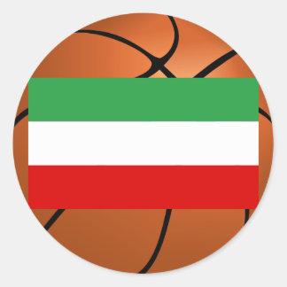 Equipo de baloncesto nacional de Irán Pegatina Redonda