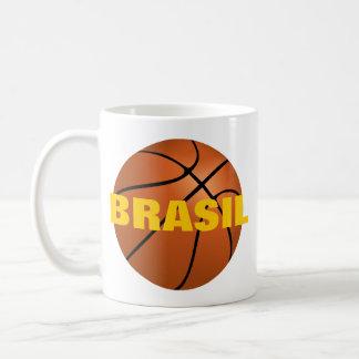 """Equipo de baloncesto nacional """"zurdo"""" del Brasil Taza De Café"""