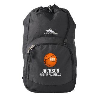 Equipo de baloncesto personalizado, nombre del mochila