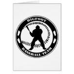 Equipo de béisbol de Bigfoot Tarjetas