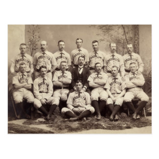 Equipo de béisbol de Brooklyn, 1889 Postal