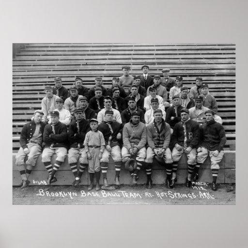 Equipo de béisbol de Brooklyn, los años 10 Posters