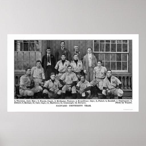 Equipo de béisbol de Harvard 1904 Póster