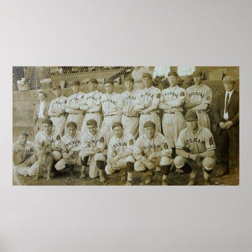 Equipo de béisbol de los indios de Spokane Póster
