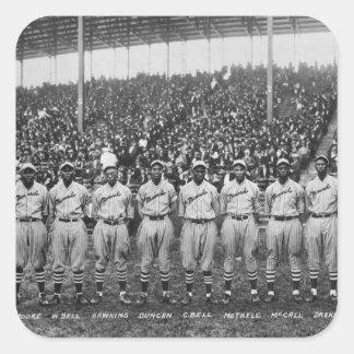 Equipo de béisbol de los monarcas de Kansas City Pegatina Cuadradas