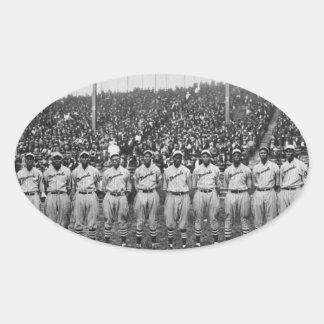 Equipo de béisbol de los monarcas de Kansas City Calcomanía De Óval