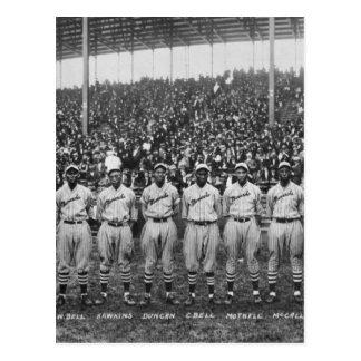 Equipo de béisbol de los monarcas de Kansas City Tarjetas Postales