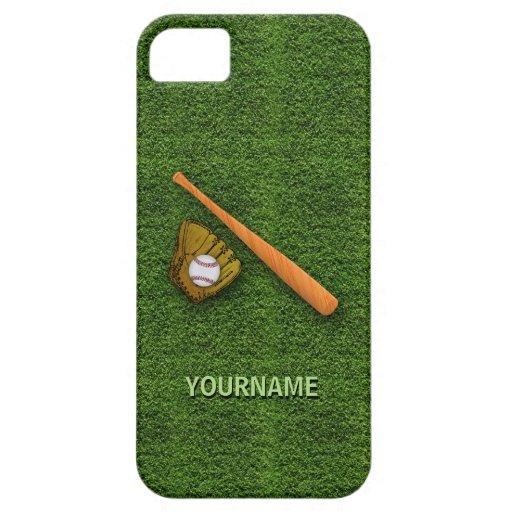 Equipo de béisbol fresco - guantes del bate de béi iPhone 5 Case-Mate cobertura