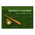 Equipo de béisbol fresco - guantes del bate de béi plantilla de tarjeta personal