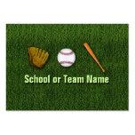 Equipo de béisbol fresco - personal del instructor plantilla de tarjeta personal