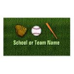 Equipo de béisbol fresco - personal del instructor tarjetas personales