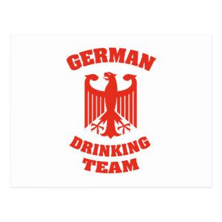 Equipo de consumición alemán tarjetas postales