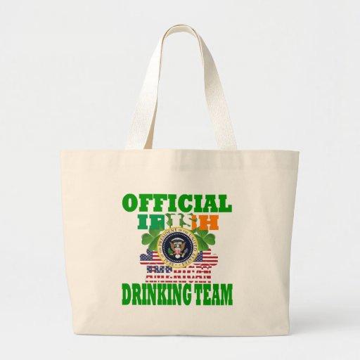 Equipo de consumición americano irlandés oficial bolsa tela grande