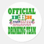 Equipo de consumición americano irlandés oficial pegatinas