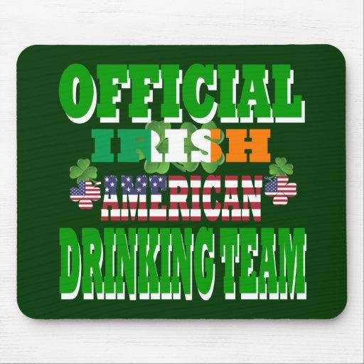 Equipo de consumición americano irlandés oficial alfombrillas de ratón