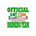 Equipo de consumición americano irlandés oficial postales