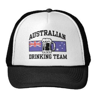 Equipo de consumición australiano gorros
