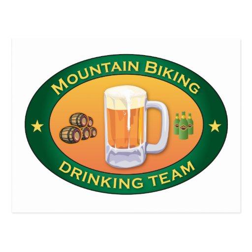 Equipo de consumición Biking de la montaña Tarjeta Postal