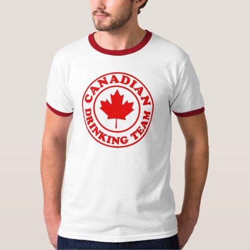 Equipo de consumición canadiense remera
