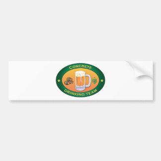 Equipo de consumición concreto etiqueta de parachoque