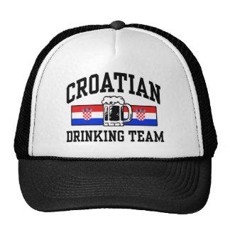 Equipo de consumición croata gorros