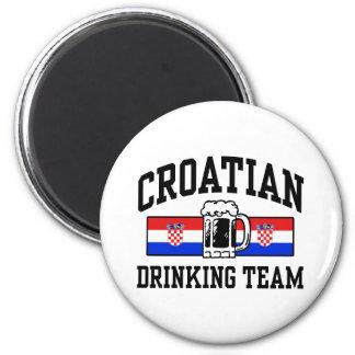 Equipo de consumición croata imán para frigorifico