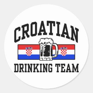 Equipo de consumición croata pegatina redonda