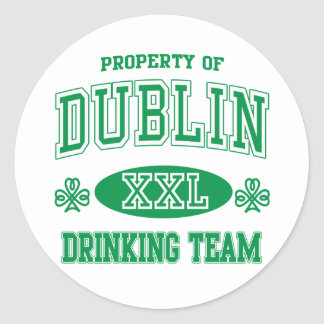 Equipo de consumición de Dublín Pegatina Redonda