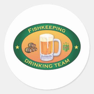 Equipo de consumición de Fishkeeping Pegatina Redonda