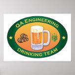 Equipo de consumición de la ingeniería del QA Poster