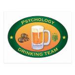 Equipo de consumición de la psicología tarjeta postal