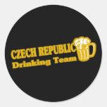 Equipo de consumición de la República Checa Pegatina Redonda