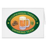 Equipo de consumición de la terapia profesional felicitacion