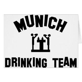 Equipo de consumición de Munich Tarjeta De Felicitación