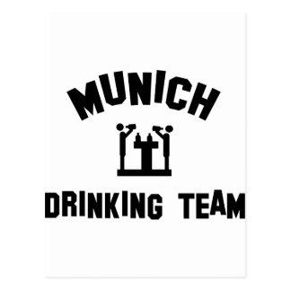 Equipo de consumición de Munich Tarjetas Postales