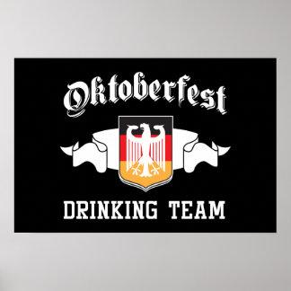 Equipo de consumición de Oktoberfest Posters