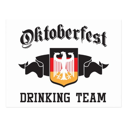 Equipo de consumición de Oktoberfest Postal