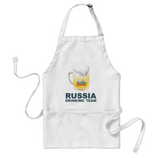 Equipo de consumición de Rusia Delantal