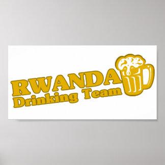 Equipo de consumición de Rwanda Poster