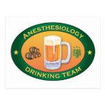 Equipo de consumición del Anesthesiology Tarjetas Postales