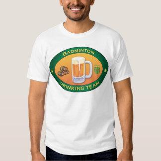 Equipo de consumición del bádminton camisas