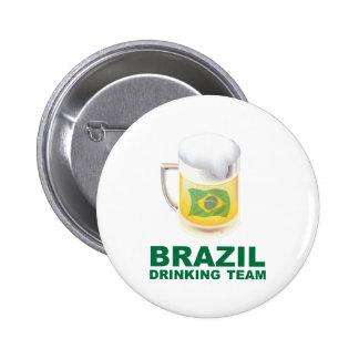 Equipo de consumición del Brasil Pin Redondo 5 Cm