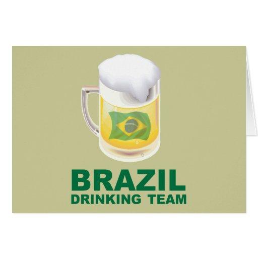 Equipo de consumición del Brasil Tarjeta De Felicitación
