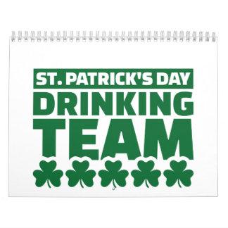 Equipo de consumición del día de St Patrick Calendarios